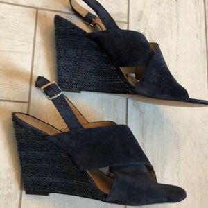 NWOT Banana Republic Suede Wedge